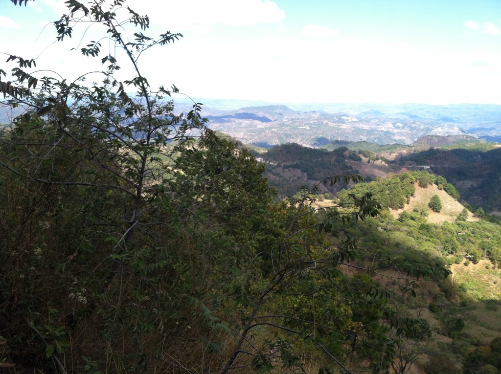 View of mountain valley in southern Honduras.